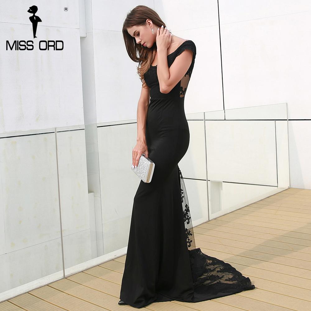 فستان سهرة  Missord جذاب مع ذيل وذو تصميم مميز 5