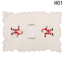 Hot Sales 6 Pcs / set Tableware Christmas Table Placemat Pad Dining Table Mat Plate Bowl Home Decor Xmas Gifts