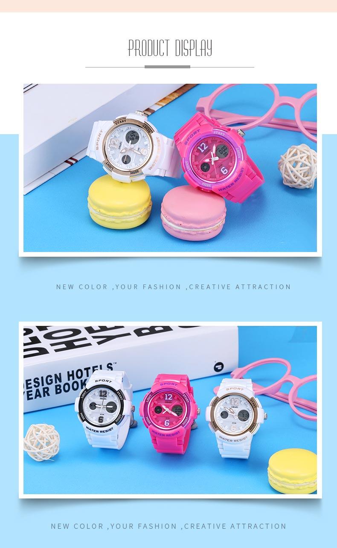 2017 Ladies Watch LED Waterproof Rose Gold White Women Watch Top Brand Quartz Watch Bracelet 1632 Relogio Feminino Girls Watches