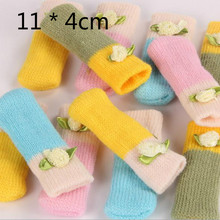 10 PCS/LOT  Knitted Wool Furniture Leg Feet  Pads FLOOR Protectors ANTI-SLIP NOISE ACCESSORIES