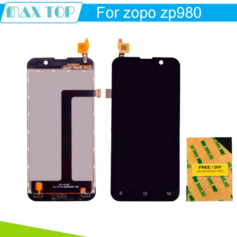 FOR ZOPO ZP980 LCD Display + Digitizer Touch Screen Assembly For ZOPO ZP980 ZP980+ C2 C3 1920*1080 FHD<br><br>Aliexpress