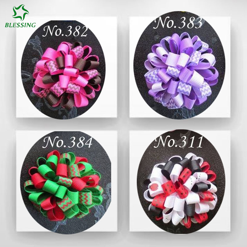 50 BLESSING Good Girl C-Loopy Puffs Ribbon 2.5 Hair accessories Bow Alligator Clips<br>