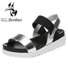 G.L.Brother Thick Sole Wedge Sandals Women Sandalias Mujer Summer Shoes Sandalia Feminina Women Sandals Platform Sandale Femme