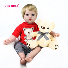 NPKDOLL 20 Inches 50 CM Doll Reborn Handmade Soft Silicone Reborn Babies For Girls Toys Lifelike BeBe Reborn Dolls Newborn(China)