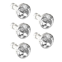5Pcs Clear Crystal 3.5mm Earphone Jack Ear Cap Dust Plug Mobile Dust Plugs Wholesale Free Shipping