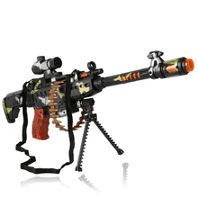 Electronic Simulated Machine Gun Toys For Boy Classic Plastic Funny Toys Flashing Children Playing Toys