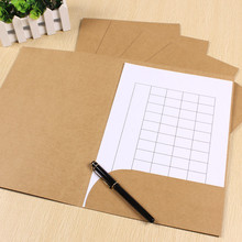 31*22cm Kraft Paper A4 Paper File Bag DIY Multifunction Green Card Bag 3 colors 100pcs\lot Free shipping
