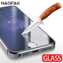 NAGFAK Anti-Scratch 0.27mm 9H Tempered Glass For iPhone 5 5S SE Screen Protector Film For iPhone 5S SE 5 Protective Glass Film(China)