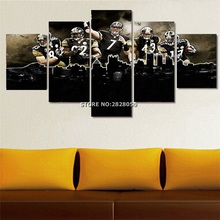 Cheap 5 Piece Rugby Player Paintings Sport Picture Great Wall Art For Living Room Abstract Artwork Painted On Canvas Unframed