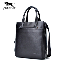 CROSS OX New Business Casual Style Men's Handbags For Men Shoulder Bag Genuine Leather Portfolio Briefcase Messenger Bag HB551M(China)
