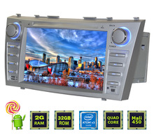 Latest 2GB RAM 2din Android 5.1 Car stereo player steering-wheel Autoradio GPS Navi HD screen For Toyota Camry Aurion 2006-2011