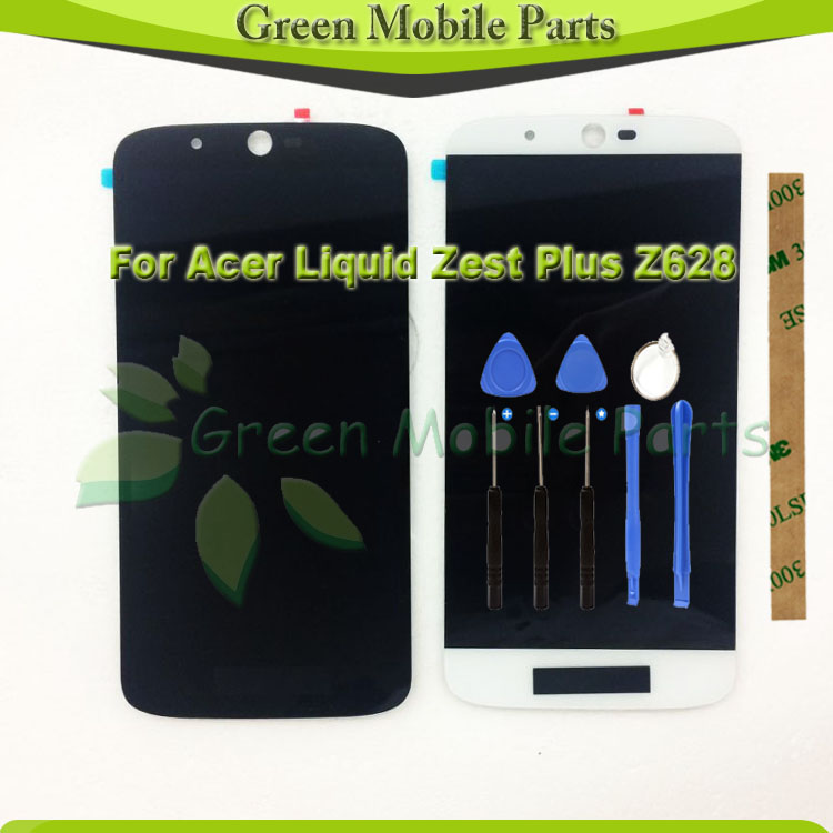 5.5 1280*720 LCD Display For Acer Liquid Zest Plus Z628 LCD Display Digitizer Assembly With 3M Sticker Free Tools <br>