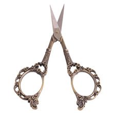 Vintage Sewing Scissors Floral Seamstress Plum Blossom Cross-Stitch Scissor Antique Sewing Scissor for Fabric Tool QB877883