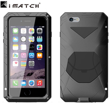 for iphone 6 plus case ,Metal aluminum + Silicone shockproof gorilla glass mobile phone protect bag cover case for iphone 6s pl