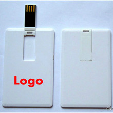 (30pcs Free logo) Custom Credit Card USB Flash Drive 8GB16GB 32GB Pen drive customized logo photo pendrive wedding business gift(China)
