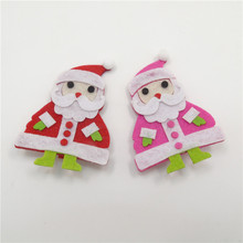 Red and Rose Red Christmas Snowman Hair Clips Novelty Fashion Felt New High Quality Fabric Top Hairpins Grips Head Hair Wear(China)