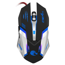 Mouse Mice 6 Button Wired LED Light Up Gaming Mouse 5500 DPI For Laptop Or PC Mice A8(China)