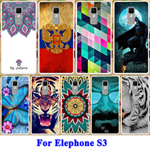 AKABEILA Soft TPU Mobile Phone Case For Elephone S3 Cases Painted Back Cover Panda Tiger Captain American Butterfly Patterns(China)