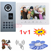 Video Phone Intercom Rfid+Code IP65 Waterproof Door Phone Intercom Intercom System For Home Security Camera Monitoring System