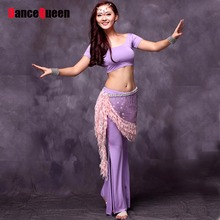 Beauty Belly Dancing Suit For Lady 2 Piece(Top&Pants)Ropa Danza Del Dancewear Indian Clothes India Practice Belly Dance Costume(China)