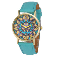 Xiniu 2017 Fashion Nation Retro Print Design Watch Women Faux Leather Analog Quartz Wrist Watch Casual Clock Relogio Feminino