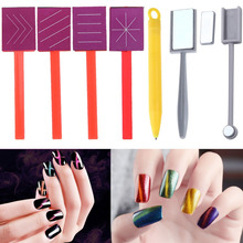 Nail Art Magnet Stick Magical Cat Eye Gel Polish Varnish Dual End Replaceable Line Strip Effect Builder Strong Magnetic Board(China)