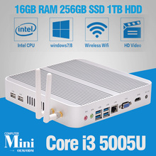 Hot New minipc Windows 10 Intel Core i3 5005U Minicomputers with WiFi&Bluetooth Mini PC Desktop Wintel Mini PC VGA+HDMI 16GB RAM