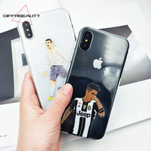 DIFFRBEAUTY Phone Case For iPhone X Football Back Cover For iPhone 5s 6s 7 8 plus Famous team Antoine Griezmann Messi Star Case(China)