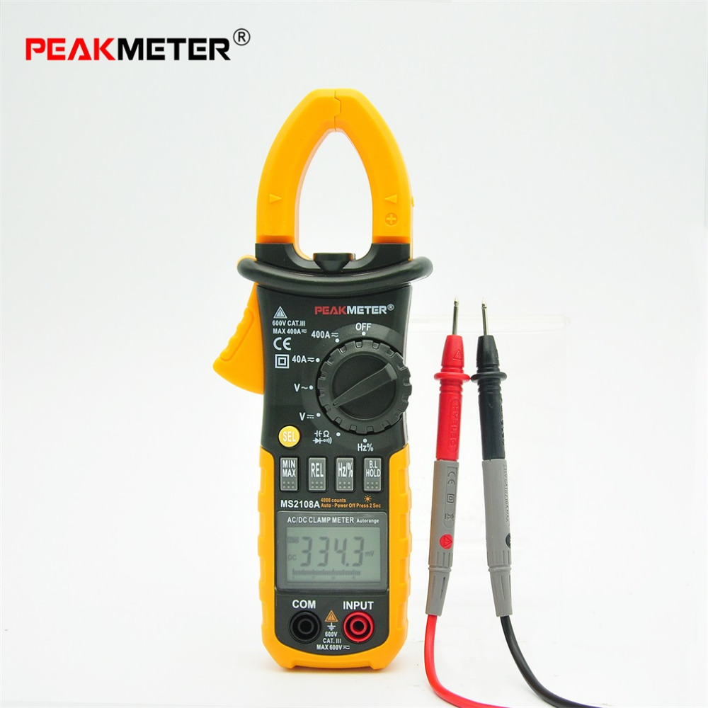4000 Counts Digital Clamp Meter MS2108A Clamp Multimeter DC/AC Voltmeter Current Meter Resistance Capacitance Frequency Tester<br>