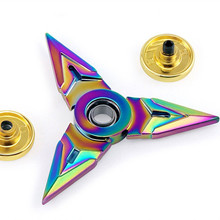 Game OW Genji Multicolor Finger Spinner 7cm Zinc Alloy Rotary Hand Spinner Shuriken Darts Weapons Model Christmas Gift