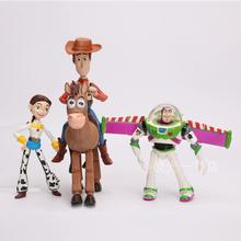 Toy Story 3 Buzz Lightyear Woody Jessie PVC Action Figures Toys Dolls Child Toys 4pcs/set