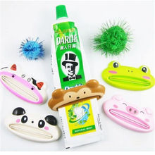 1XCute Cartoon Frog Toothpaste Tube Easy Squeeze Paste Dispenser Roll Holder(China)