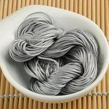1mm Macrame Rattail Chinese Knotting Nylon Beading Grey Jewelry Cord Thread  EQB180