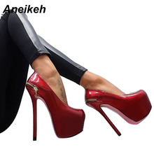 Aneikeh Extreme High Heels Red Wedding Shoes Women Platform Heels Shoes Woman High Heel Pumps Women Summer Party Shoes