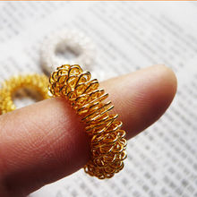 2Pcs Finger Massage Ring Acupuncture Ring Health Care Body Massager Relax Hand Massage Finger lose Weight(China)