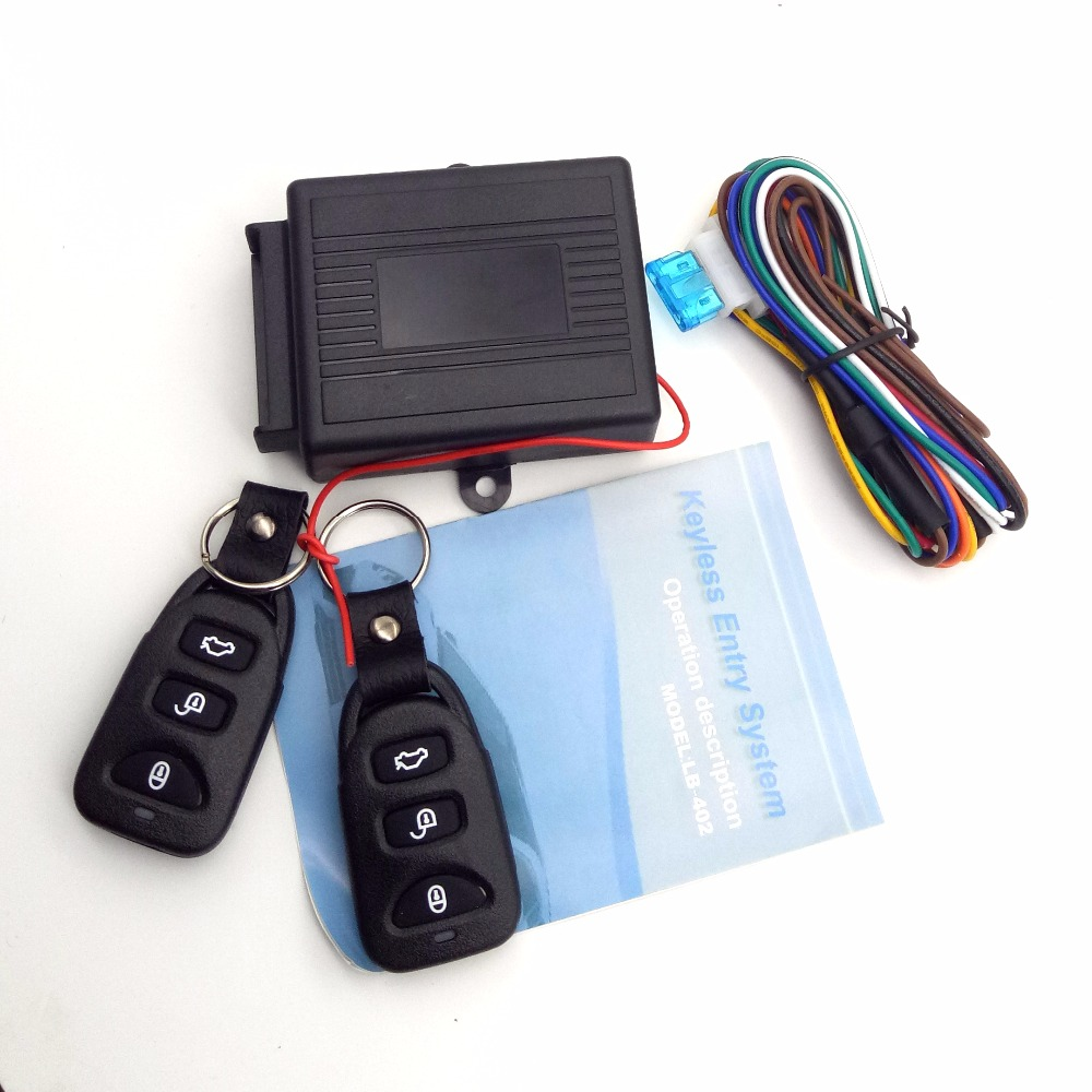 Universal Alarm Systems Car Remote Central Kit Door Lock Locking Vehicle Keyless Entry System New With Remote Controllers(China)