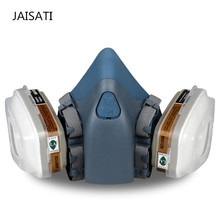 JAISATI Respirator Gas Mask Body Chemical Masks Dust Filter Paint Dust Spray Chemical Gas Mask Half face Mask