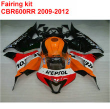 Injection molding Fairing kit for HONDA cbr600rr 2009 2010 2011 2012 CBR 600 RR black orange REPSOL fairings 09 10 11 12 LK10