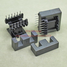 2sets/lot EE40 EI40 Ferrite Magnetic Core and 6 Pins + 6 Pins Plastic Bobbin Customize High Frequency Voltage Transformer