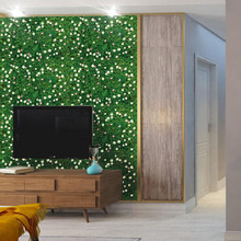 Environment Layout TV Background Wall Stickers Home Wall Decoration Removable 85x57cm Modern Large DIY Simulation Lawn Flowers(China)