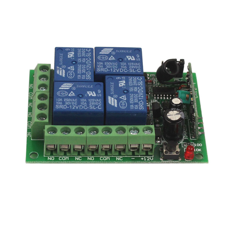 12V 4CH Remote Switch 433MHz Electric Door Remote Control Switch Universal 12V 4CH 315MHz433MHz Transeiver Module (11)