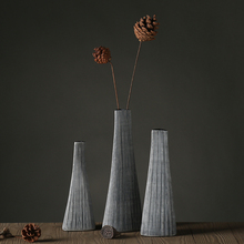 Poly resin vase home decor floor vases flower pots planters wedding party decor folding paper shape vases(China)