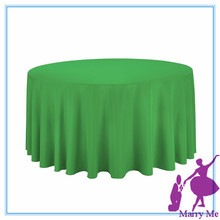 15pcs used round banquet tables for sale/Green100% Polyester 108'' Round Tablecloth supplier from china(China)
