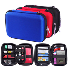 Portabl Digital Products Travel Square Storage Bag for USB Flash Drive, Earphone, Health USB Key, Phone,Power Bank GH008(China)