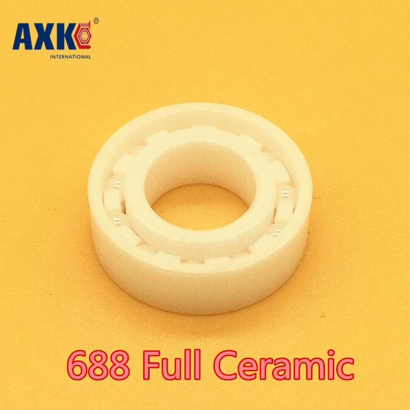 Axk 688 Full Ceramic Bearing ( 1 Pc ) 8*16*4 Mm Zro2 Material 688ce All Zirconia Ceramic 618/8 Ball Bearings<br>