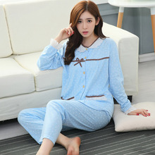 Casual Pyjamas Women Long Sleeve Round Collar Sleepwear Winter Warm Homewear Set Tops+Pants Bright Color Christmas Pajamas(China)