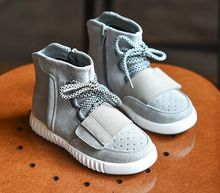 2016 spring autumn winter brand boots boys girls high top sneakers boys shoes children leather shoes suede baby shoes sneakers