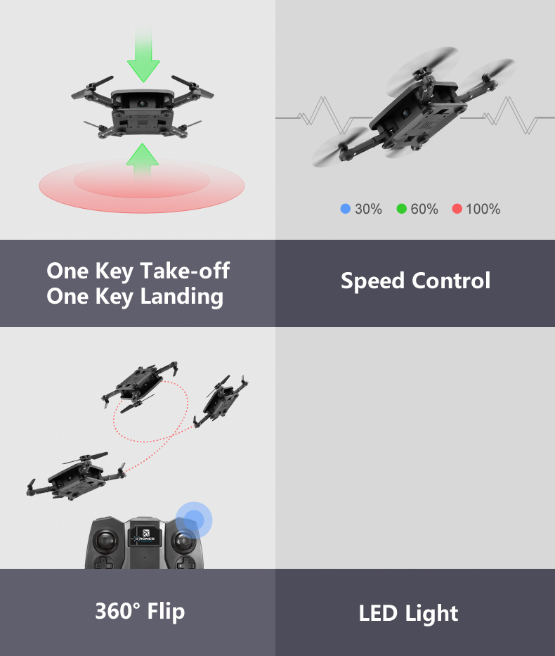 New Pocket Selfie Drone Quadcopter Foldable 2.4G 4CH Mini Helicopter Quadcopter With 2MP HD Camera Portable Photography Video