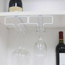 1pc Stainless Steel Wine Glasses Holder Wine Goblet Rack Kitchen Bar Wall Hanging Wine Rack Glass Cup Holder Storage #45(China)