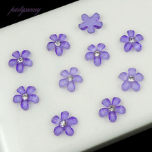 PF 10mm Resin Cherry Blossoms Rhinestones Flatback Glases for Phone Case DIY Bags Shoes Applique Rhinestone Trim Jewelry TZ012